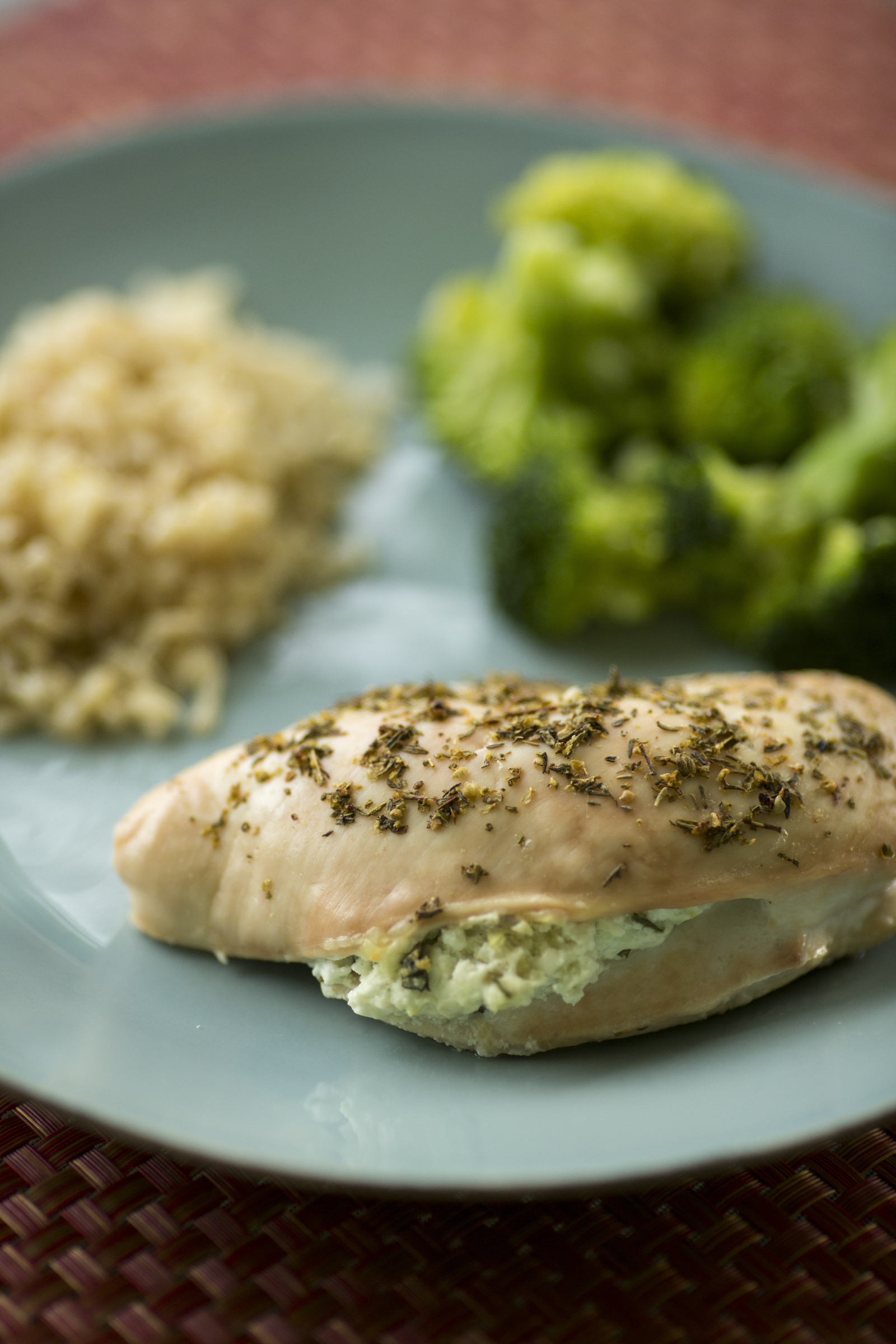 Spinach Artichoke Goat Cheese Stuffed Chicken | The Broadcasting Baker