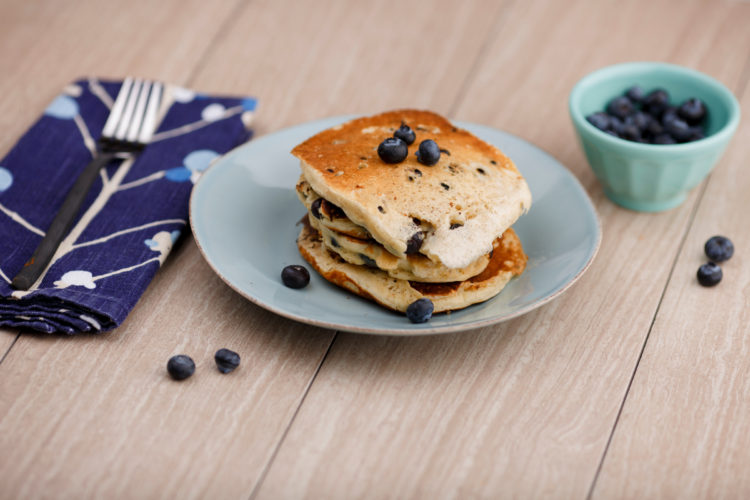 Blueberry pancakes are pictured on Sunday, April 2, 2017, in Bloomington, Indiana. (Photo by James Brosher)