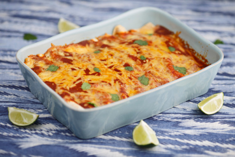 Enchiladas are pictured on Saturday, April 29, 2017, in Bloomington, Indiana. (Photo by James Brosher)