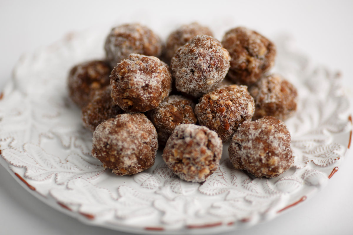 Bourbon balls are pictured in Bloomington, Indiana on Sunday, Dec. 10, 2017. (Photo by James Brosher)