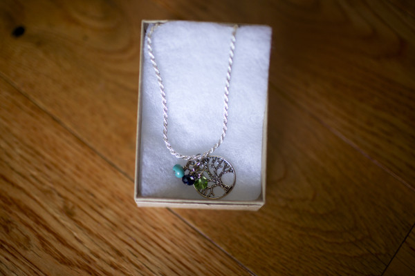 birth stone necklace