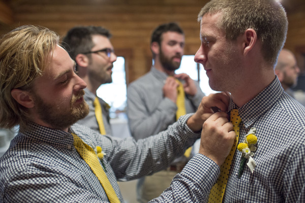 Images before the Brosher-Harrington wedding ceremony at Davis Lodge on Lake Bloomington Saturday, May 30, 2015, in Hudson, Ill. (Stephen Haas)