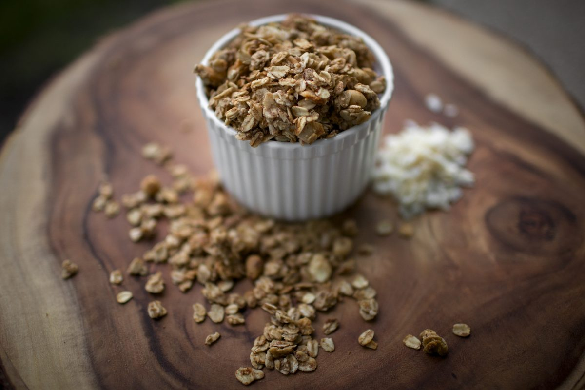 Homemade Granola is pictured on Thursday, April 21, 2016, in Bloomington, Indiana. (Photo by James Brosher)
