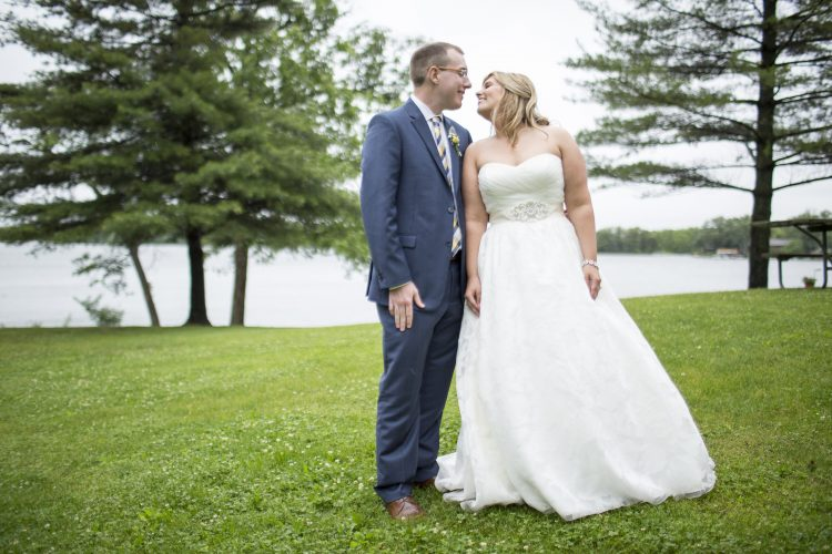 Portraits after the Brosher-Harrington wedding at Davis Lodge on Lake Bloomington Saturday, May 30, 2015, in Hudson, Ill. (Stephen Haas)