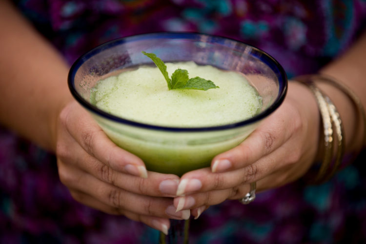 A Mint Margarita Slush is pictured on Friday, Aug. 12, 2016, in Bloomington, Indiana. (Photo by James Brosher)