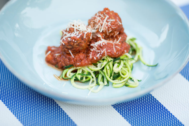Zoodles (zucchini noodles) is pictured on Monday, Aug. 29, 2016, in Bloomington, Indiana. (Photo by James Brosher)