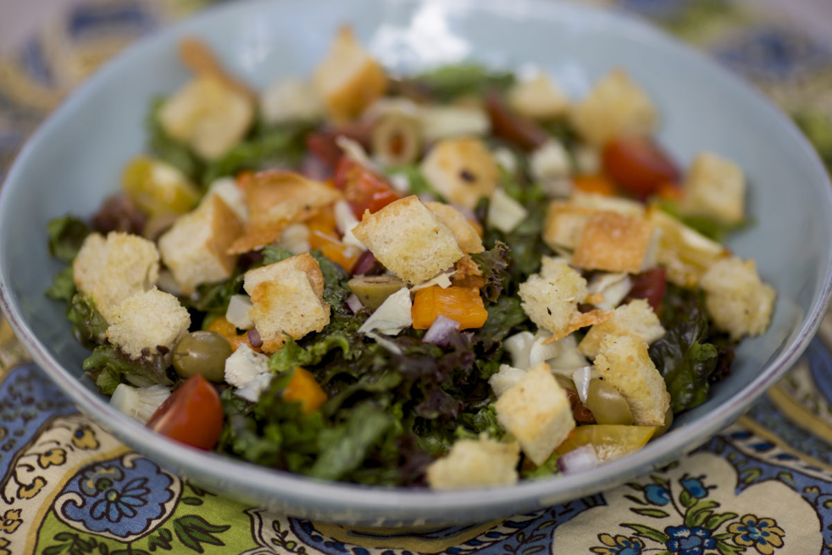 Everyday Salad With Homemade Croutons