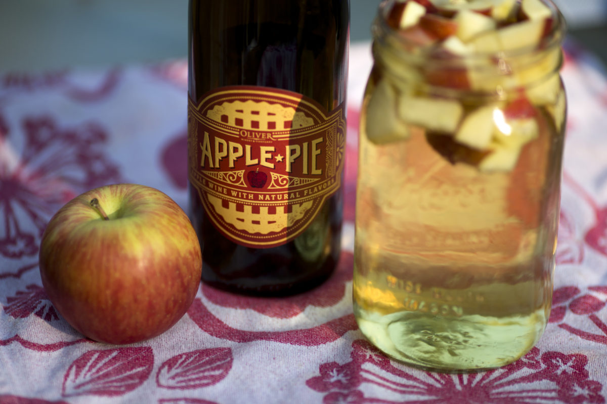 Apple Pie Sangria is pictured on Sunday, Sept. 25, 2016, in Bloomington, Indiana. (Photo by James Brosher)
